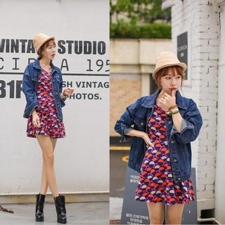 Drop-Shoulder Denim Jacket