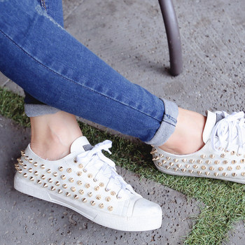 Lace-Up Studded-Detail Sneakers