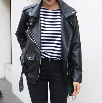 Faux-Leather Rider Jacket
