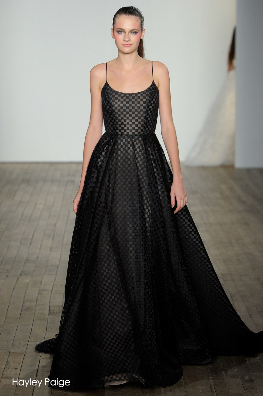 600fc38d3126 ... dress in her collection, bridal labels such as Viktor and Rolf, David's  Bridal, and Idan Cohen include monochrome grids in their designs. The  semi-sheer ...