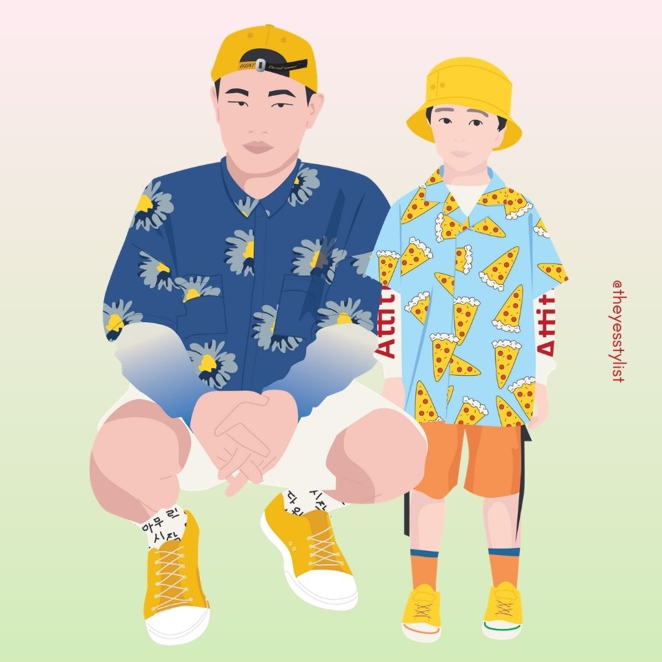 Kang Gary & Haoh vector illustration