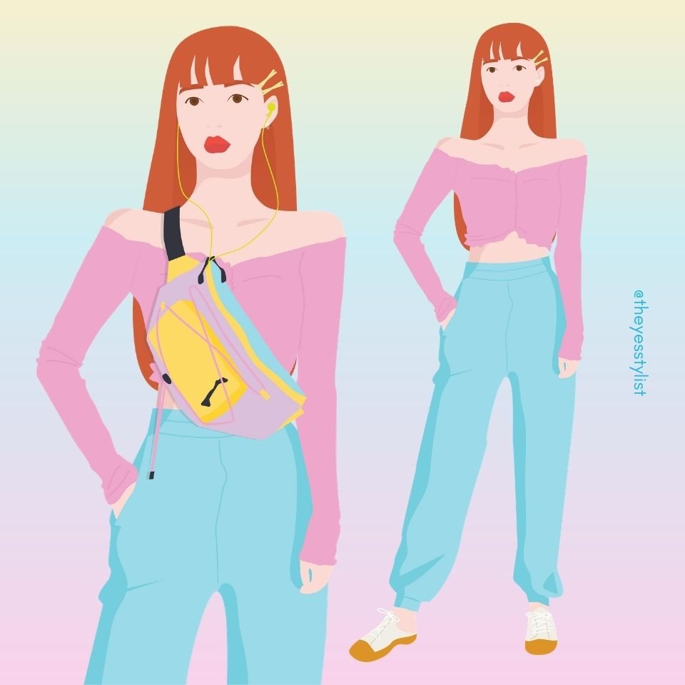 Oh My Girl's YooA Vector Illustration