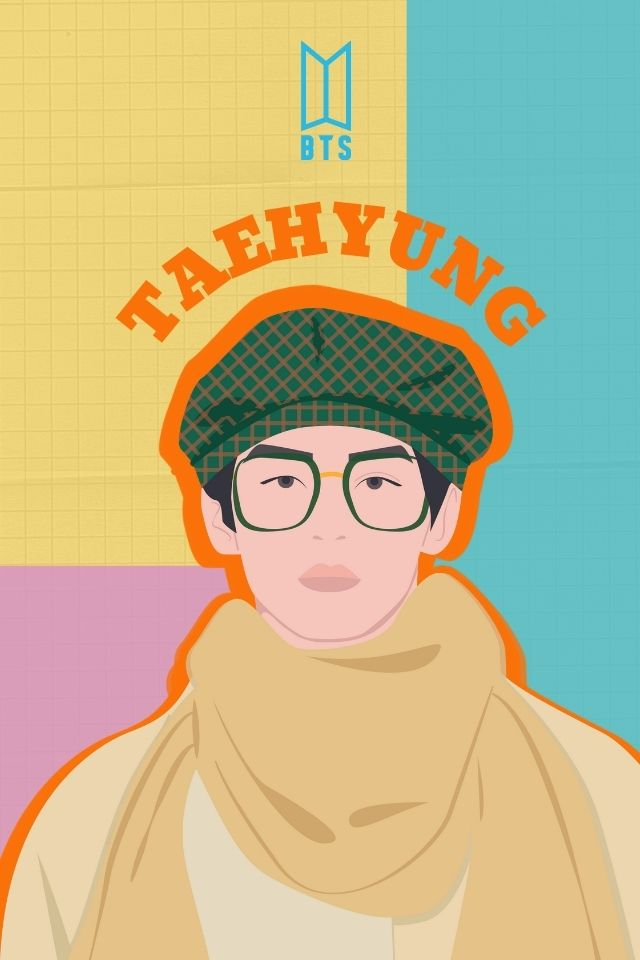 BTS Taehyung Feature Image Illustration
